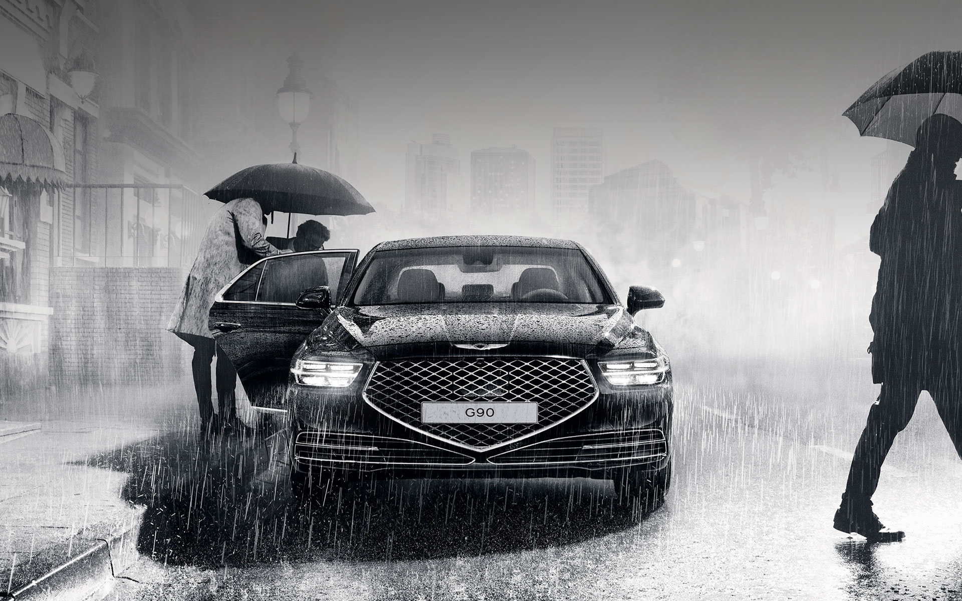 GENESIS G90 Design Features - G-matrix patterned Quadlamps